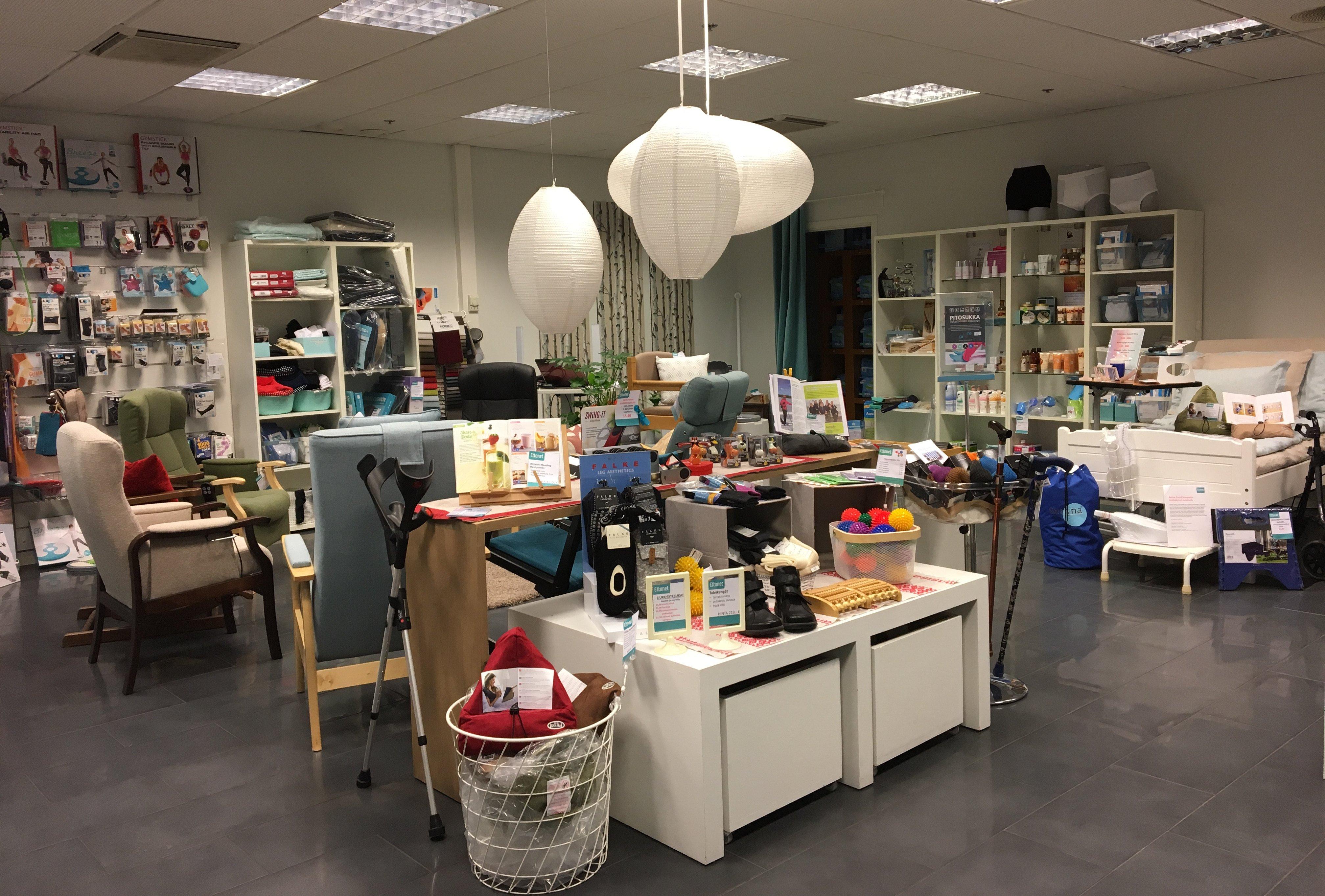 Ettonet-seniorituotemyymala-apuvalineita-erikoishuonekaluja-Munkkivuoren-ostoskeskus-Helsinki