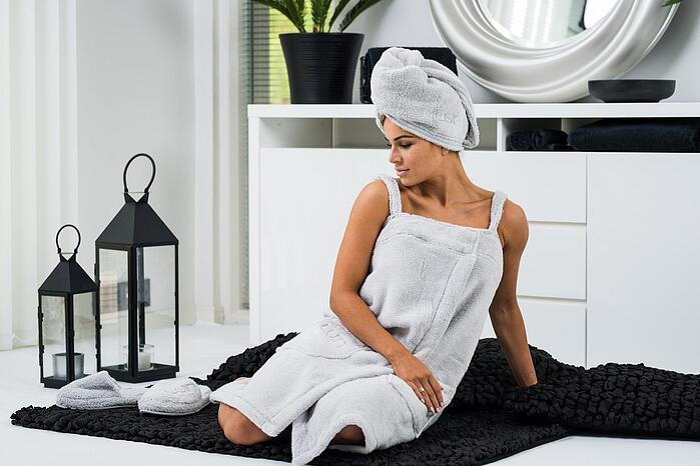 bathing-wear-spa-dress-hair-towel